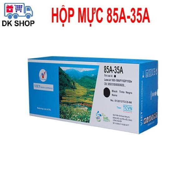 [HCM]Hộp Mực In 85A-35A (Viet Toner) - Dùng Cho Máy In (Hp : 1005-1006 /P1102 P1102w) Canon (3050 / 3100/6000…).