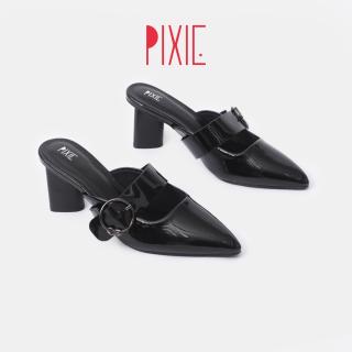 Giày Sục Cao Gót 7cm Quai Cài Ngang Pixie X749 thumbnail