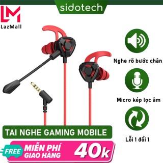 Tai nghe gaming có mic Sidotech phiên bản G3m cho điện thoại dùng cho game thủ chơi game mobile pc laptop thuộc dòng tai nghe gaming có dây chuyên dụng cho game pubg moblie liên quân lmht tốc chiến thumbnail