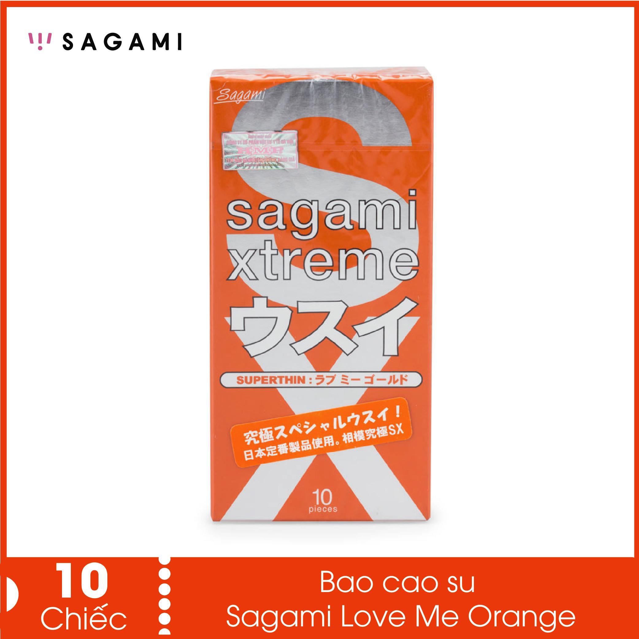 Bao cao su Sagami Love Me Orange (Hộp 10 chiếc) - truyền nhiệt nhanh,siêu mỏng