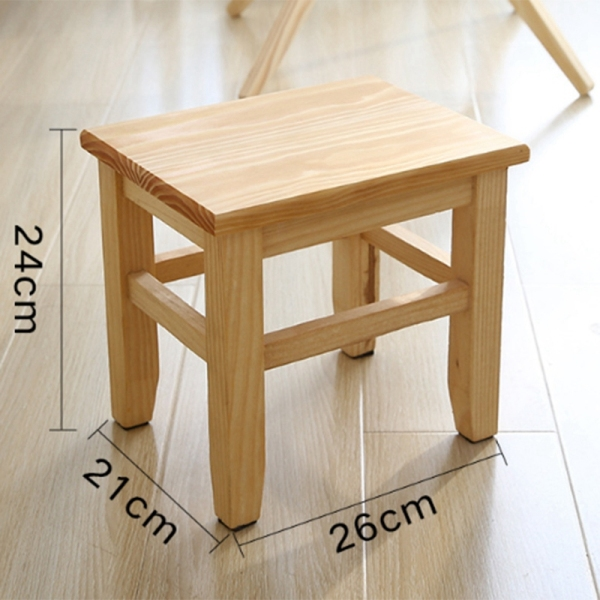 Multi-Function Solid Wood Shoe Bench Stool ChildrenS Adult Stool Living Room Home Small Bench Sofa Tea Table Chair On-Slip Bath Bench Stool cao cấp