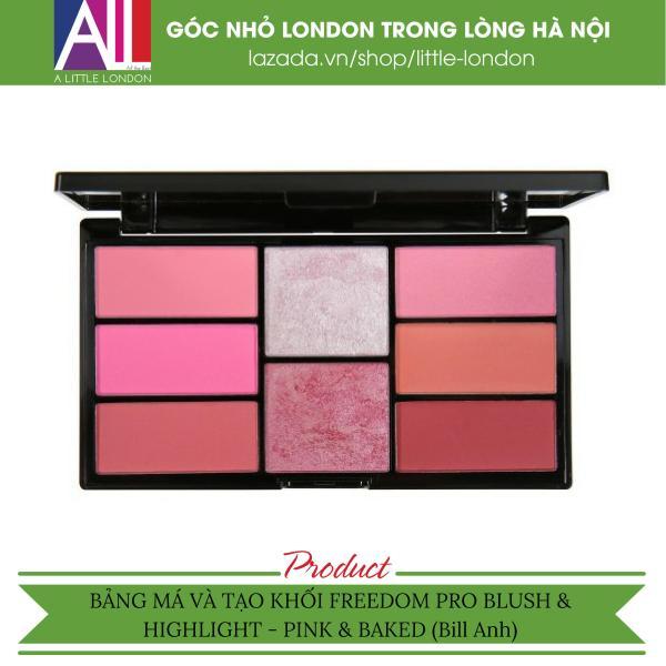 Bảng má và tạo khối Freedom Pro Blush & Highlight - Pink & Baked (Bill Anh)