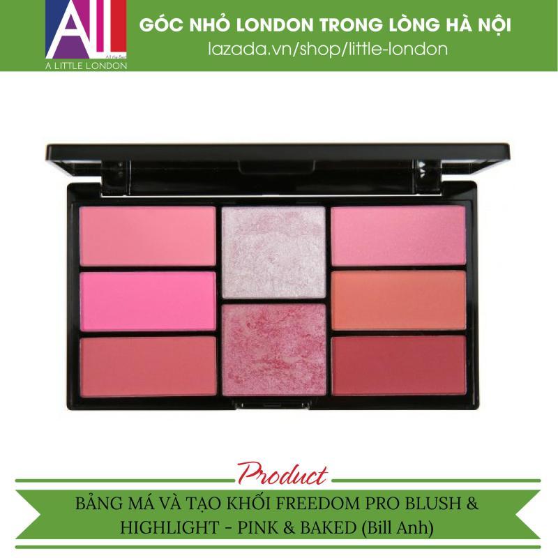 Bảng má và tạo khối Freedom Pro Blush & Highlight - Pink & Baked (Bill Anh) giá rẻ
