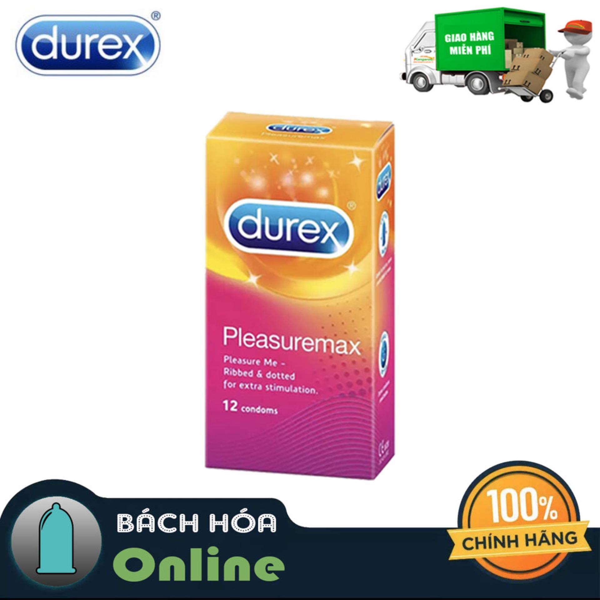 ❤️Bao cao su❤️ BCS Durex Pleasuremax gân gai 12s [che tên sản phẩm] cao cấp