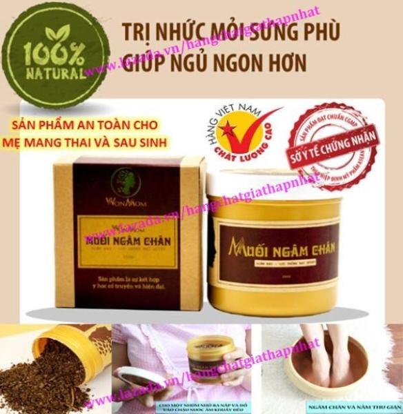 Muối ngâm chân thảo dược Wonmom - giảm đau nhức, phù chân 350g - An toàn cho Mẹ mang thai và sau sinh (Việt Nam) cao cấp