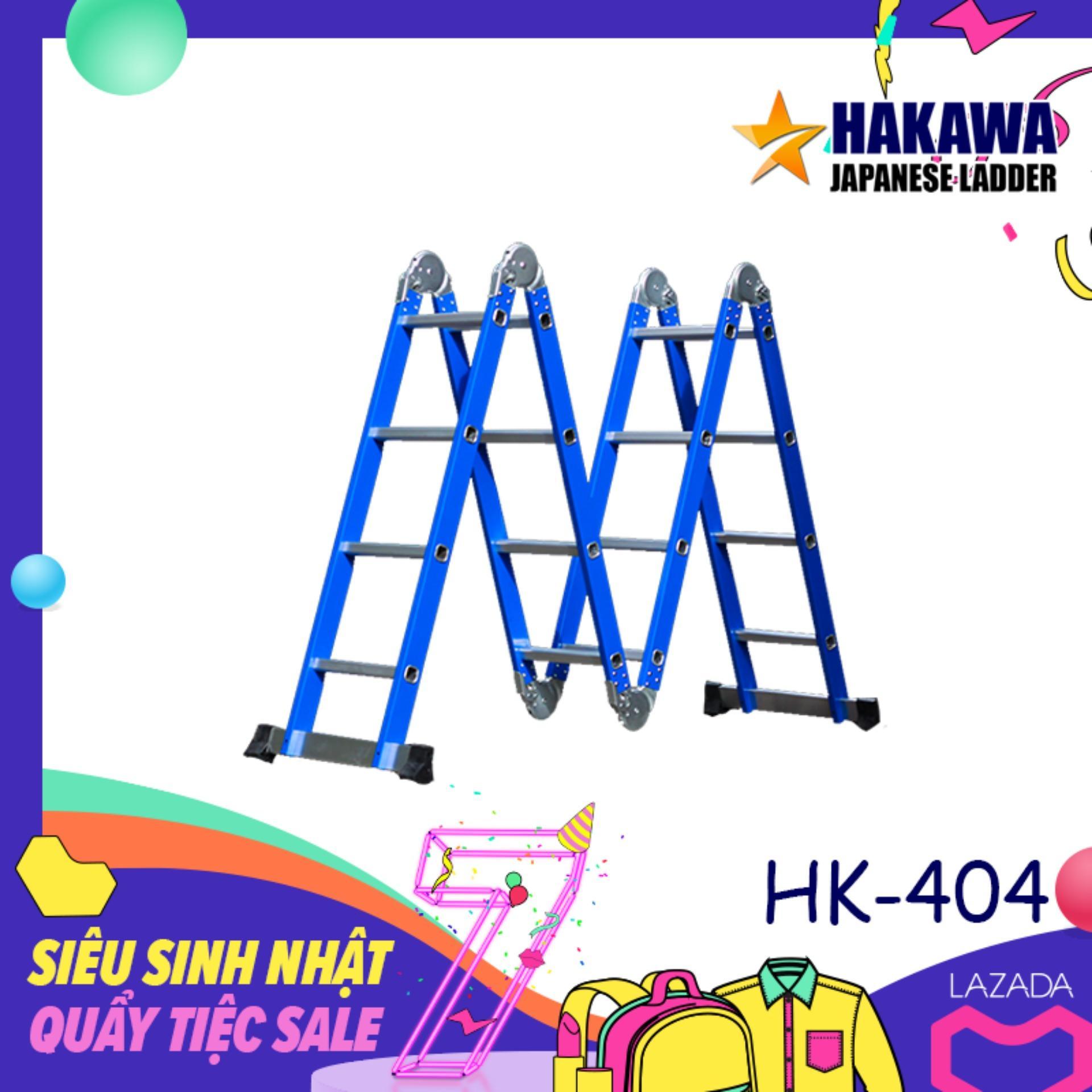 [HAKAWA]Thang nhom gap khuc da nang HAKAWA HK404  - Dùng trong gia đình ( cao 4.7 mét)