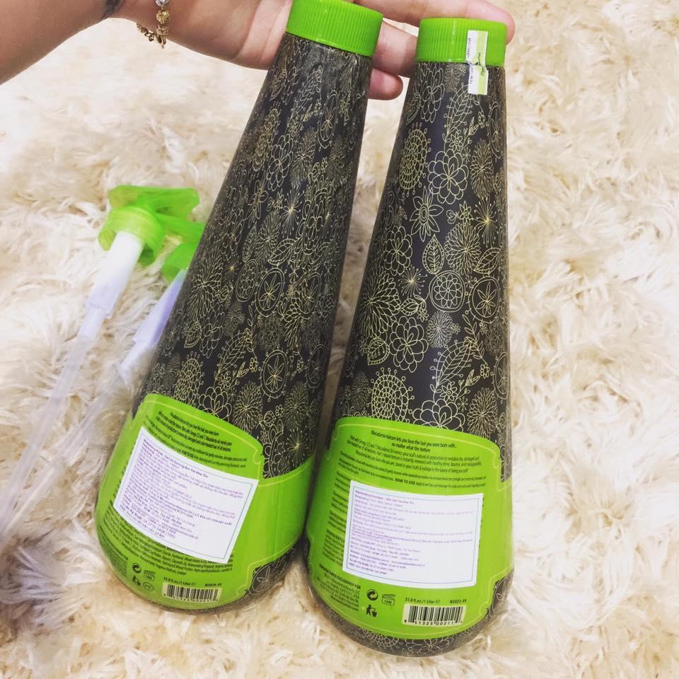 Cặp dầu gội/xả Macadamia siêu dưỡng ẩm trẻ hóa tóc 1000ml (1 gội + 1 xả) tốt nhất