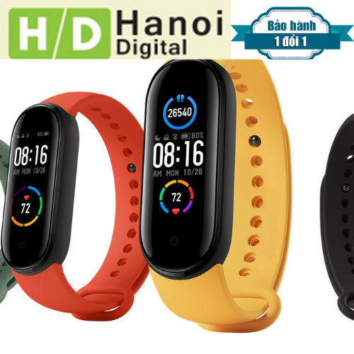 Đồng hồ thông minh Xiaomi mi band 5-Chống nước 5ATM Theo dõi sức khỏe kết nối Bluetooth hỗ trợ tiếng Việt - Hàng chính hãng