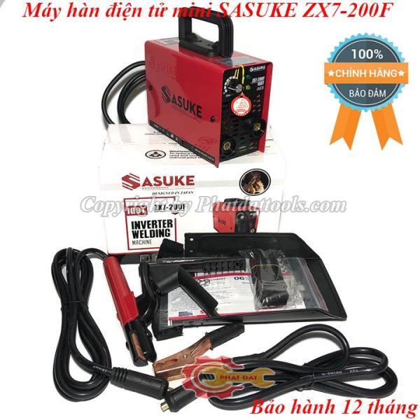 Máy hàn điện tử mini SASUKE ZX7-200F-Công nghệ Nhật Bản-Chuyên que 2.5ly-Bảo hành 12 tháng