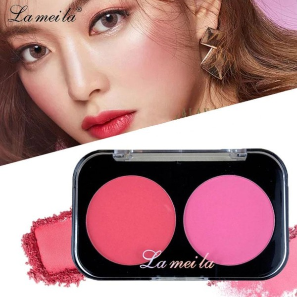 XPLUS - Phấn má hồng siêu mịn Lameila hộp 2 ô màu hot trend phấn má nội địa Trung XP-PH011 giá rẻ