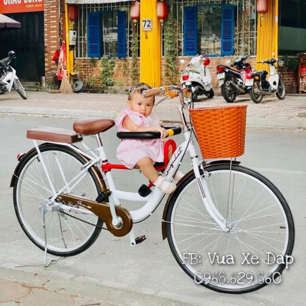 Mua Xe đạp mini nữ Thống Nhất kèm❤️FREESHIP❤️ ghế trước cho bé