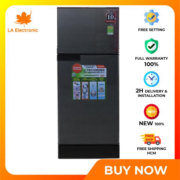 Trả Góp 0% - Tủ Lạnh SHARP Inverter 165 Lít SJ-X176E-DSS - Miễn phí vận chuyển HCM