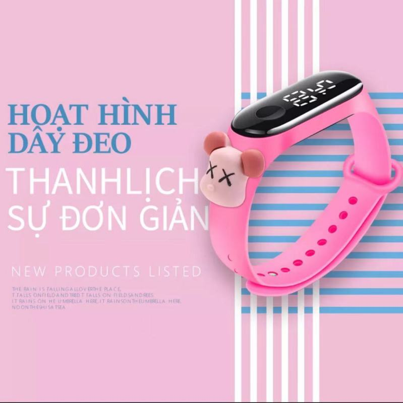 Nơi bán Childrens Multifunctional Led Luminous Calendar Wristwatch Boys Girls Student Waterproof Sports Wristband