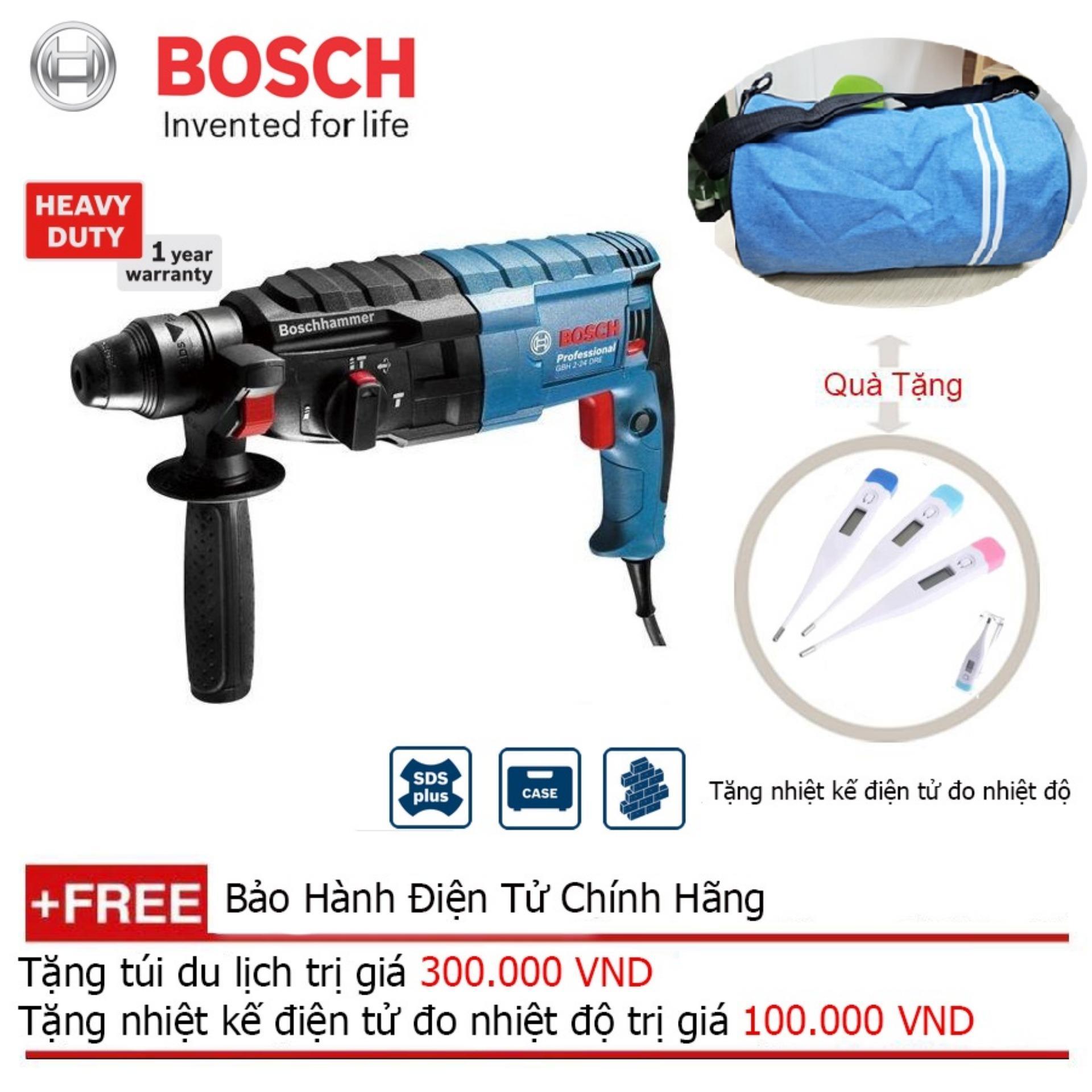 Máy khoan búa Bosch GBH 2-24 DRE + Quà tặng balo du lịch