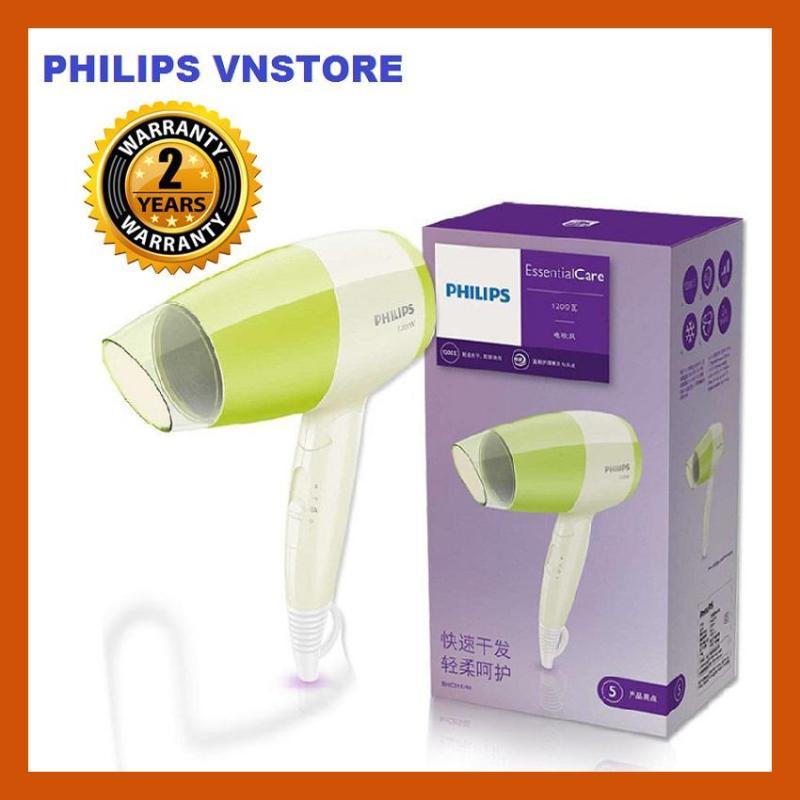 Máy sấy tóc mini philips BHC015/00, 1200W, thiết kế nhỏ gọn, gấp lại được