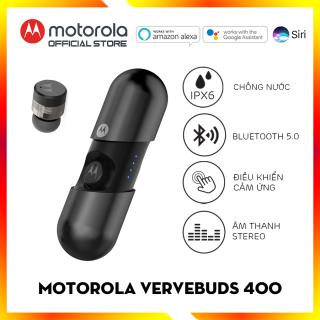 Tai nghe bluetooth không dây TWS - Motorola - VerveBuds400- Thiết kế độc lạ - Âm thanh Stereo - Chuẩn chống nước IPX6 thumbnail