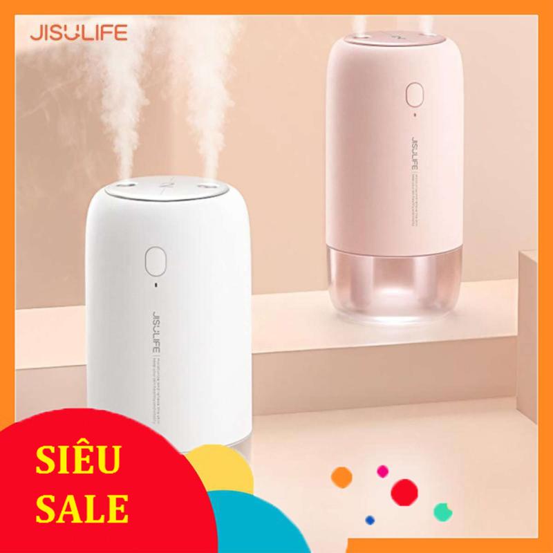 Máy phun sương tạo ẩm Jisulife JB08, Máy tạo ẩm không khí và giữ ẩm da, Máy tạo ẩm không gian 2 vòi phun sương công suất lớn kiêm làm đèn ngủ LED để bàn tiện lợi, Chính hãng bảo hành 12 tháng