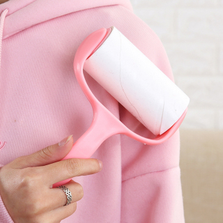 [ DỄ DÀNG SỮ DỤNG ] - Cây lăn bụi quần áo cán cong xoay 360 độ giúp lấy sạch bụi bẩn, cây lăn bụi thông minh thumbnail