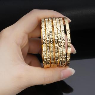 [HCM]Bộ vòng ximen 7 chiếc mạ vàng 18K cao cấp JK Silver có khóa thườngcam kết không đen không bay màu đeo cực sang chảnh thích hợp đi tiệclàm quà tặng trang sức nữ vàng trang sức hot trend TH.ximen34 thumbnail