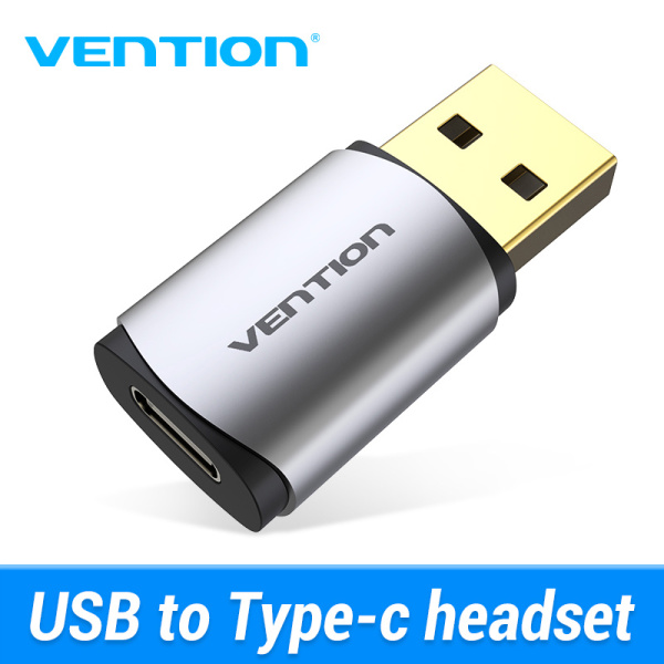 Bảng giá Vention New External USB Sound Card USB to USB C Earphone Audio Adapter Soundcard for Laptop PS4 USB Type C Sound Card Phong Vũ