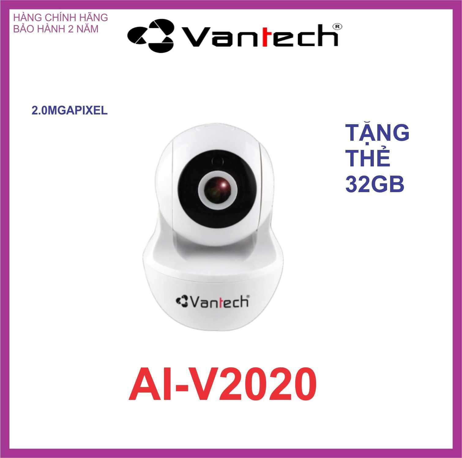 CAMERA IP WIFI VANTECH 2.0MP AI-V2020