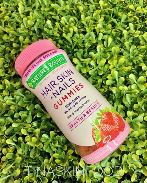 Kẹo dẻo hỗ trợ tóc dày, móng khoẻ và da đẹp Nature's Bounty Hair, Skin, Nails Gummies Mỹ giá rẻ