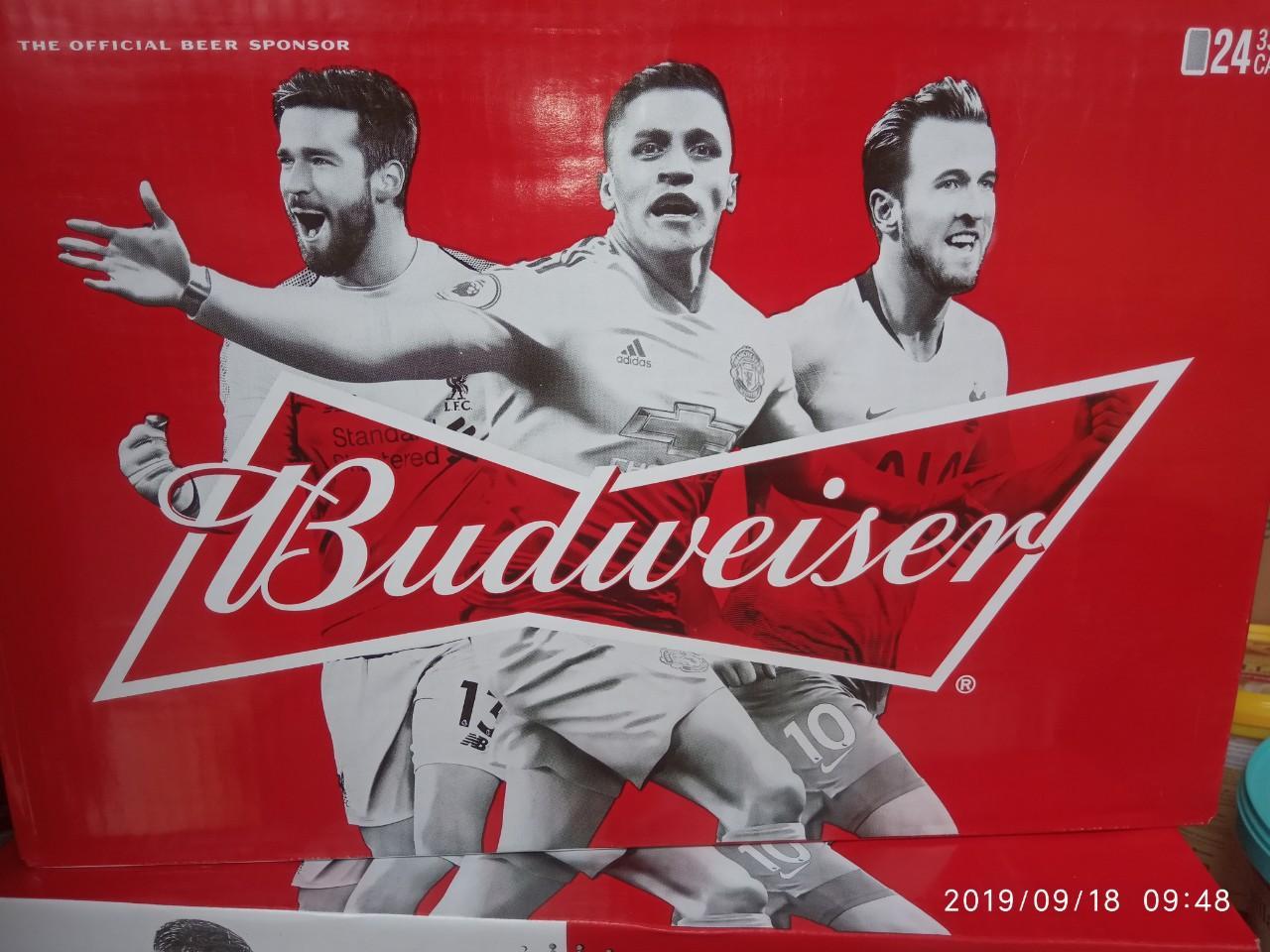 Bia Budweiser Lon 330ml X 24lon( Hàng Mới, Hsd 22/06/2020) Siêu Khuyến Mại