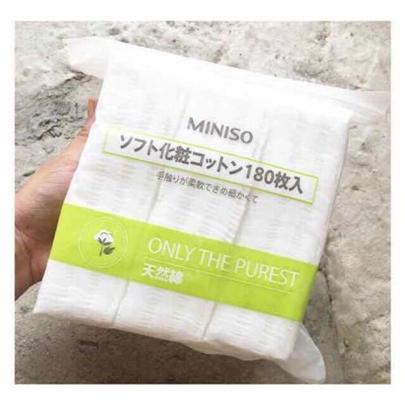 Bông tẩy trang Miniso Nhật Bản túi zip