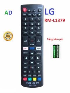 Điều khiển tivi LG RM-L1379 smart internet - tặng kèm pin - Remote LG RM-L1379 loại tốt thay thế tương thích hoàn toàn khiển zin theo máy 1