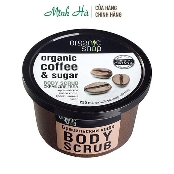 Tẩy da chết toàn thân Organic Coffee Shop Body Scrub 250ml bản Nga