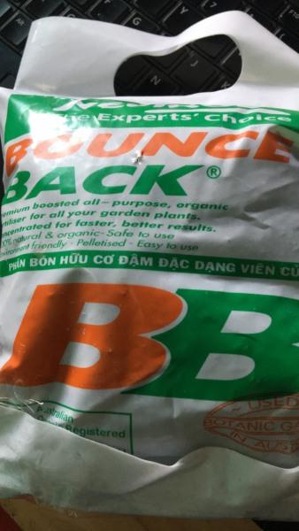 Phân bón hữu cơ Bounce Back dạng viên nén túi 5kg