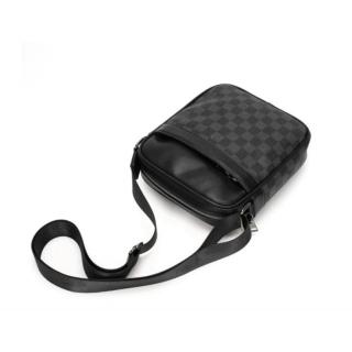 combo Túi đeo chéo nam Unisex phong cách Hàn Quốc tích hợp 2 ngăn chứa đồ tiện dụng - Túi da nam nữ đựng ipa điện thoại chống nước 3 ngăn cao cấp 6