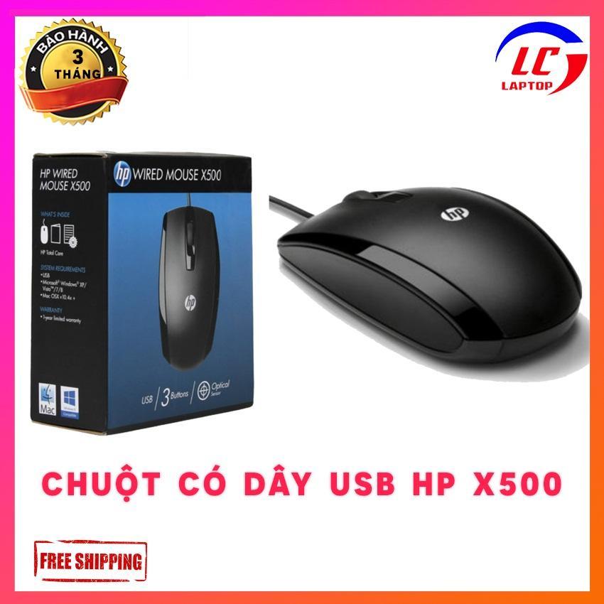 Giá Chuột có dây usb HP Wired Mouse  X500  - laptop game