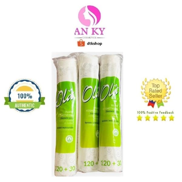 Bông Tẩy Trang Ola Cotton Pads 120+30 Miếng (150 Miếng) - Ba Lan