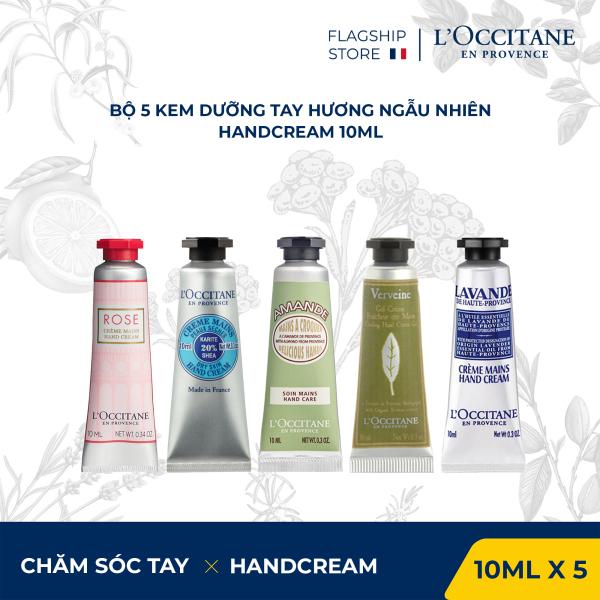 Bộ 5 tuýp kem dưỡng tay LOccitane Hand Cream Set 10ml/tuýp