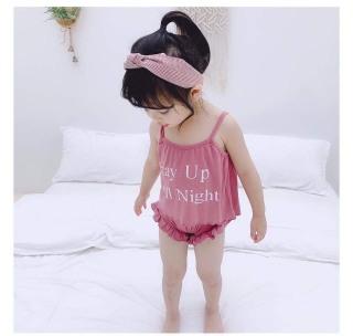 CHỌN MÀU Đồ bộ bé gái, bộ chip 2 dây mềm mát mùa hè có thể mặc cùng váy cho bé thumbnail