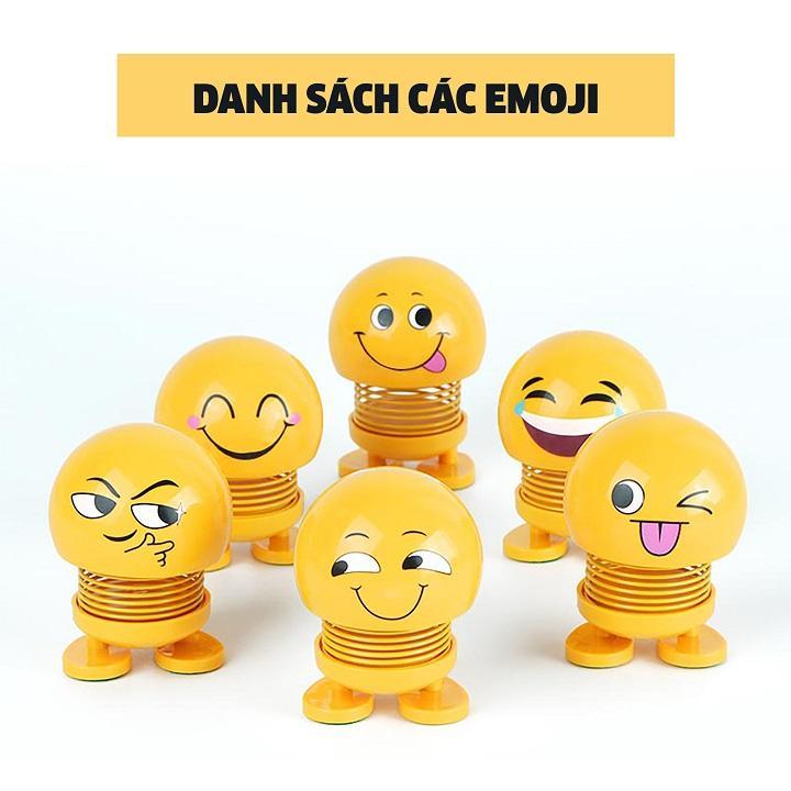 Thú nhún Emoji Lò Xo lắc đầu hình biểu tượng cảm xúc- Trang trí xe ô tô, bàn làm việc- Giảm stress, áp lực hiệu quả