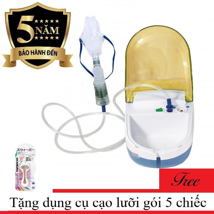 Máy xông khí dung Dotha Hibaby Health Care Nebulizer tặng Dụng cụ cạo lưỡi gói 5 chiếc Nhật TBYT H-Care (Hà Nội) chính hãng