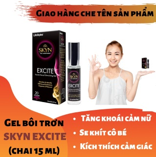 Gel bôi trơn SKYN EXCITE cao cấp tăng khoái cảm cho nữ - giúp se khít làm hồng cô bé (chai 15ml) - hàng chính hãng thumbnail