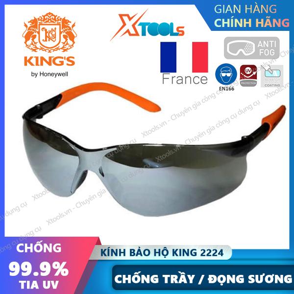 Giá bán Kính bảo hộ Kings KY2224 Kính chống bụi, tia UV, chống trầy xước đọng sương Mắt kính bảo vệ mắt đi xe máy, lao động [XTOOLs][XSAFE]