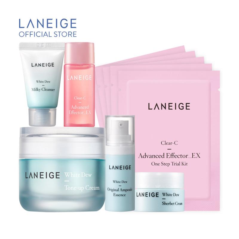 Kem dưỡng nâng tông da trắng hồng tự nhiên Laneige White Dew Tone Up Cream 50ml + Tặng Bộ dưỡng trắng làm sáng da White Dew Trial Kit giá rẻ