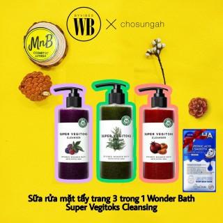 Sữa Rửa Mặt Rau Củ Thải Độc Wonder Bath Super Vegitoks Cleanser 3 in 1 Rửa mặt, Tẩy Trang dành cho da mụn, nhạy cảm, da thường, da dầu - MnB Cosmetic - thumbnail