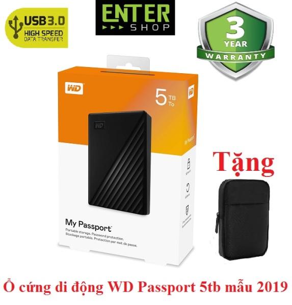 Bảng giá Ổ cứng di động WD My Passport 5Tb Model 2019 Tặng túi chống sốc Phong Vũ