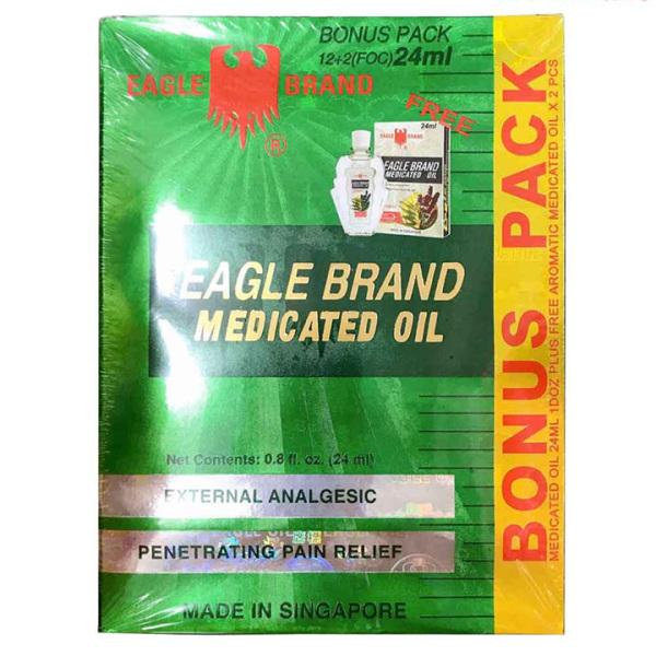 Dầu gió xanh Eagle Brand hộp 14 chai nhập khẩu