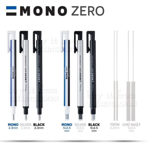 Bút gôm TOMBOW đầu vuông/đầu tròn - TOMBOW MONO ZERO Square/Circle Nhật Bản