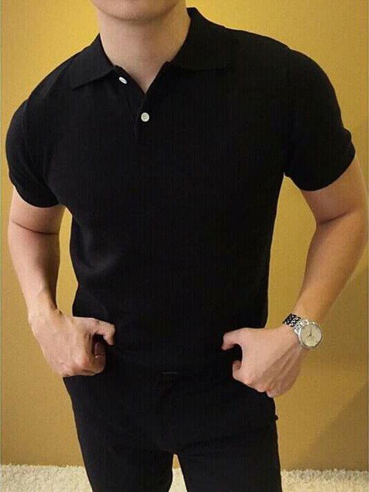 Áo thun nam ngắn tay có cổ đẹp thiết kế cao cấp chữ ITFOR phông trơn phù hợp 50-85kg nhiều màu -TATCS035