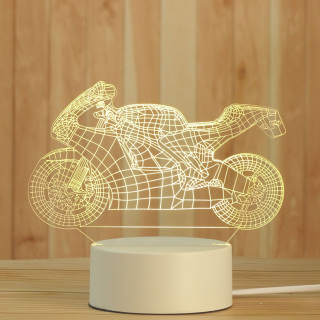 Đèn ngủ Mica led 3D hình Xe Máy fullbox đèn mica 3 màu trang trí cực đẹp - Venado thumbnail