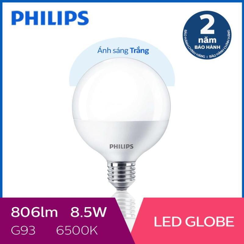 Bóng đèn Philips LED Globe 8.5W 6500K G93 E27 - Ánh sáng trắng