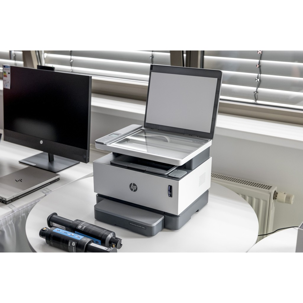 Máy in đa chức năng HP Neverstop Laser MFP 1200a máy in liên tục đa chức năng In Scan Copy Wifi hàng mới chính hãng