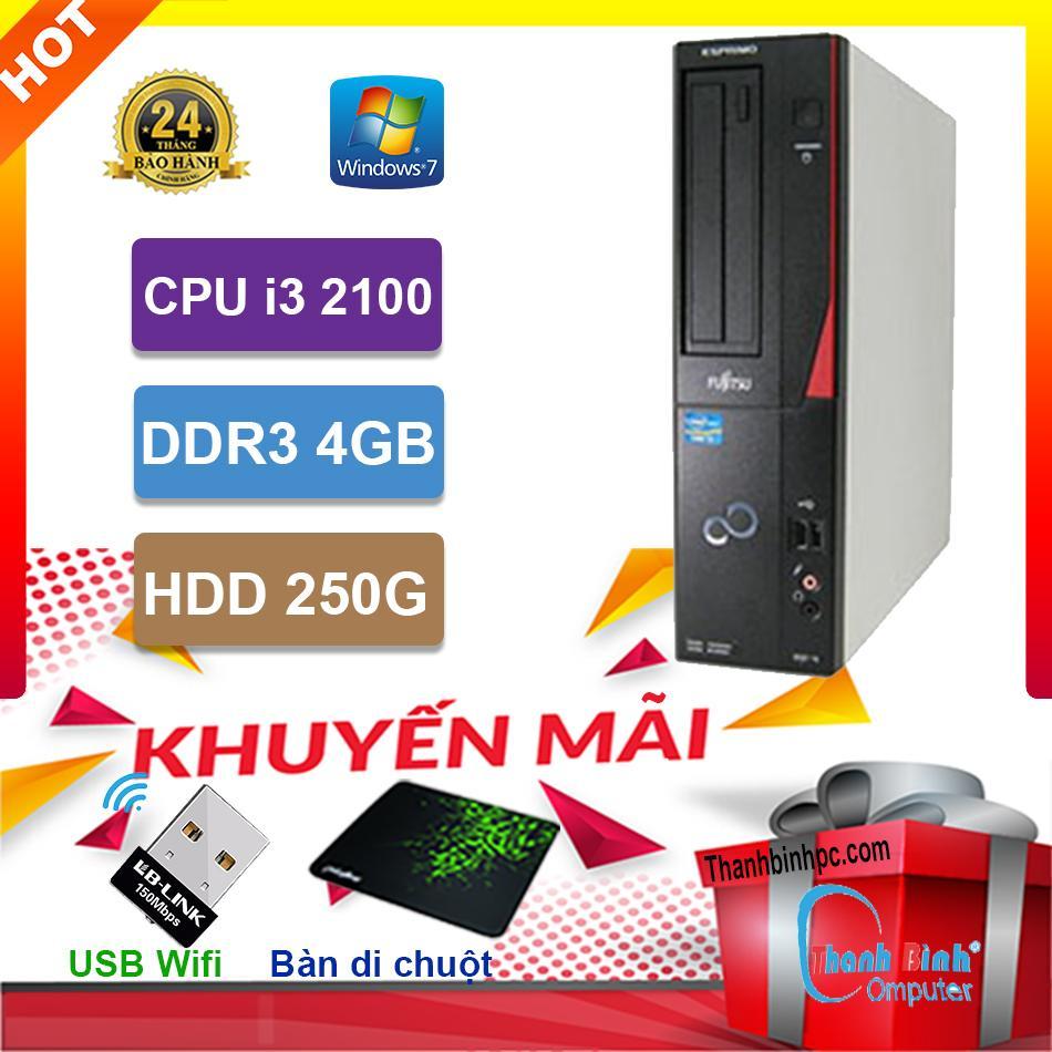 Giá Cực Tốt Để Sắm Máy Tính Đồng Bộ Fujitsu I3 2100/ RAM 4GB / HDD 250GB - Hàng Nhập Khẩu Bảo Hành 24 Tháng